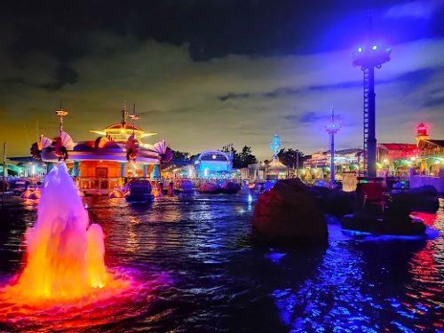 ディズニーシーの夜景3